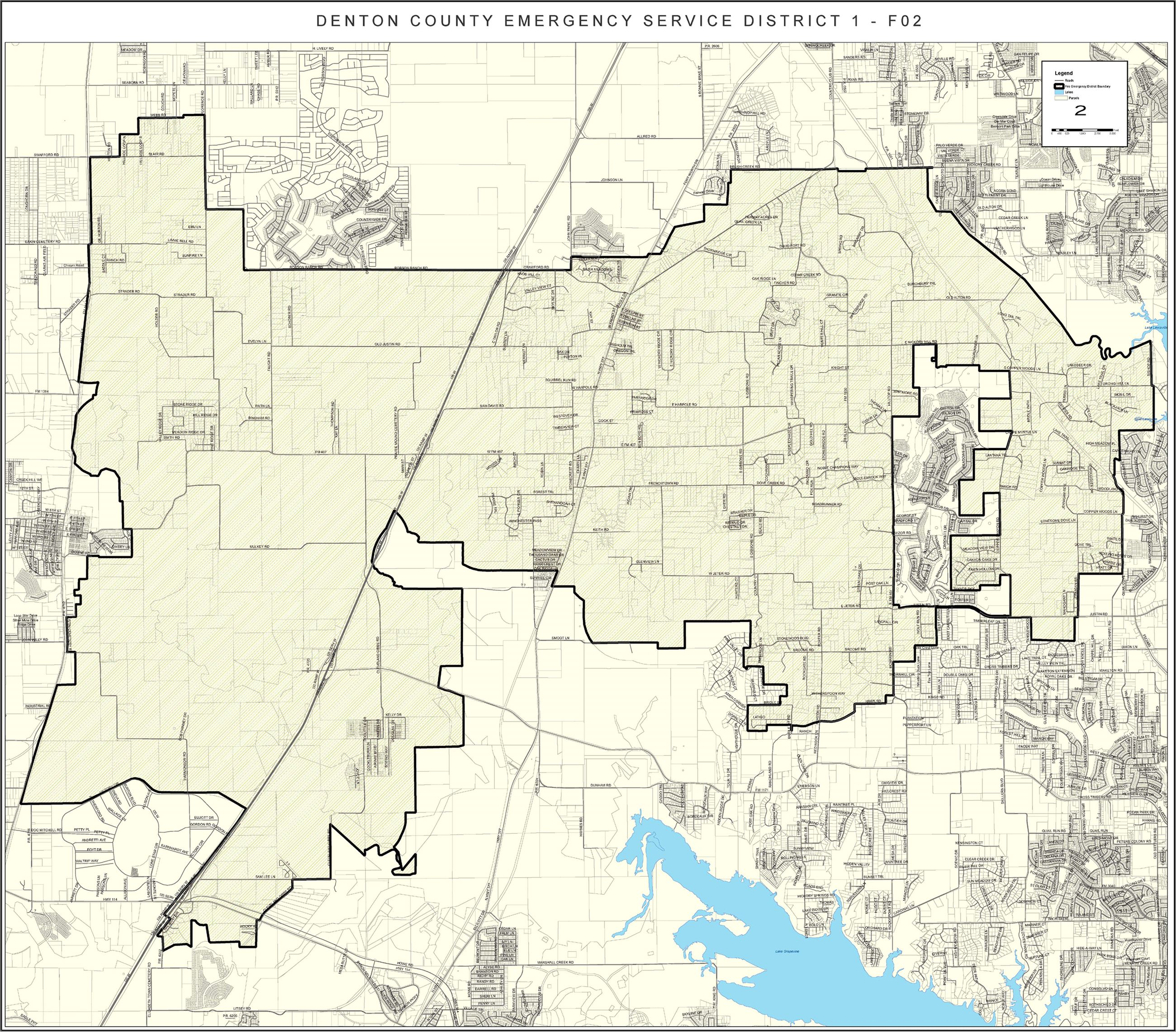 Map of Denton County Emergency Services Division Number 1